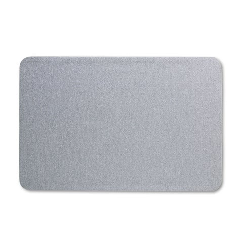 Quartet Oval Office Gray Fabric Bulletin Board