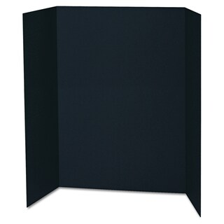 Pacon Spotlight 48 x 36 Black Corrugated Presentation Display Boards (Pack of 24)