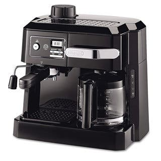 DeLonghi BCO320T Combination Drip Coffee, Cappuccino and Espresso Machine with Programmable Timer - Black|https://ak1.ostkcdn.com/images/products/10520601/P17461185.jpg?impolicy=medium