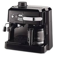 DeLonghi BCO320T Combination Drip Coffee, Cappuccino and Espresso Machine with Programmable Timer - Black
