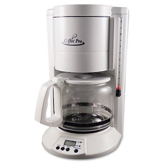 Coffee Pro Home/Office 12-Cup White Coffee Maker (Option: White)