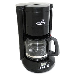 Coffee Pro Home/Office 12-Cup Black Coffee Maker