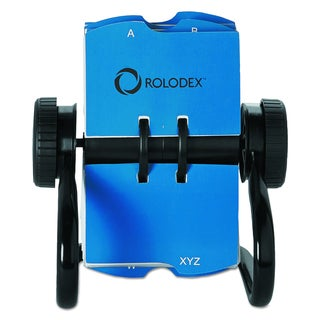 Rolodex Open Rotary Black Business Card File w/24 Guides
