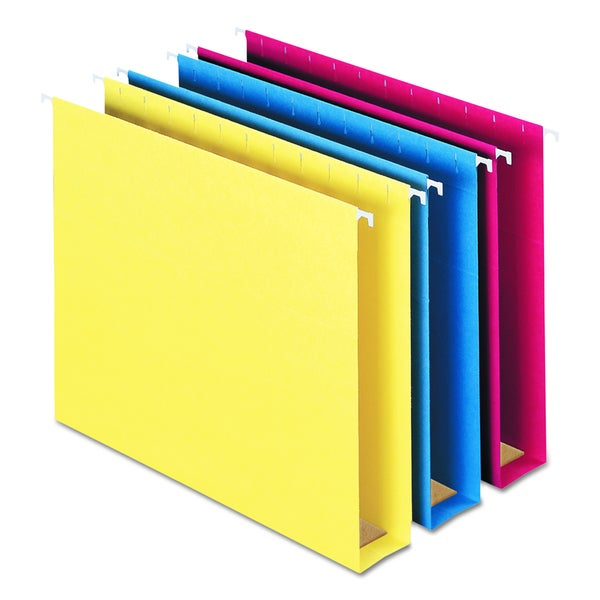 Smead Two Inch Capacity Assorted Box Bottom Hanging Folders (Box of 25)