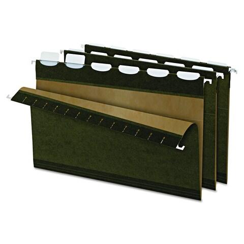Pendaflex Ready-Tab 1/5 Tab Green Reinforced Hanging Folders (Box of 25)