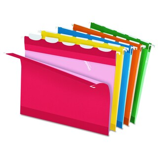Pendaflex Colored Reinforced 1/5 Tab Assorted Hanging Folders (Box of 25)