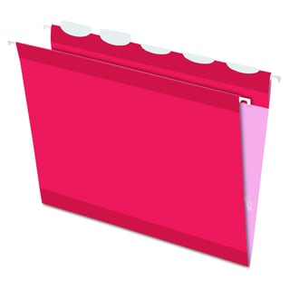 Pendaflex Colored Reinforced 1/5 Tab Red Hanging Folders (Box of 25)