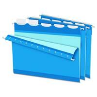 Pendaflex Colored Reinforced 1/5 Tab Blue Hanging Folders (Box of 25)