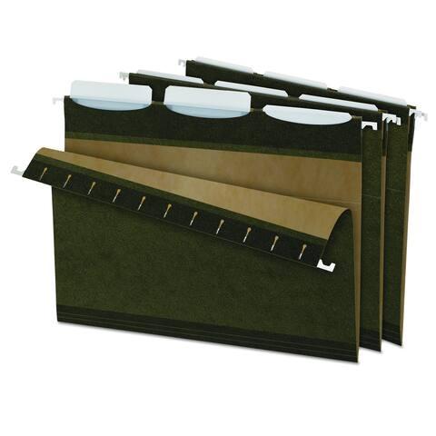 Pendaflex Ready-Tab Reinforced 1/3 Tab Green Hanging Folders (Box of 25)