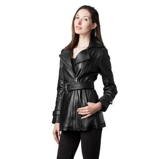 Mason & Cooper Women's Casey Leather Trench|https://ak1.ostkcdn.com/images/products/10520691/P17604076.jpg?impolicy=medium