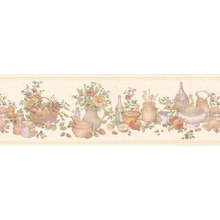 Peach Kitchen Wallpaper Border