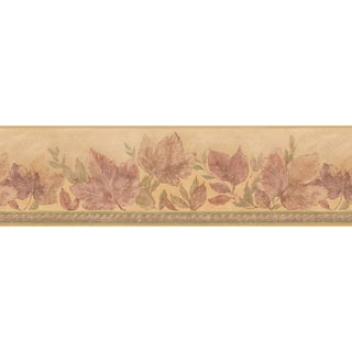 Beige Leaf Wallpaper Border
