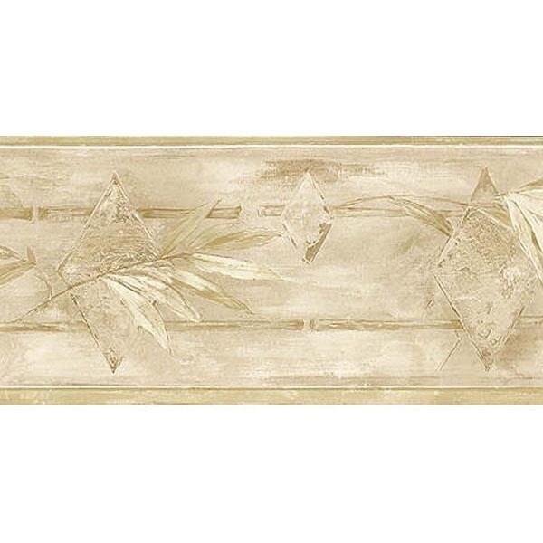 Brewster Stone Leaf Wallpaper Border, Model 499B00432 (St...