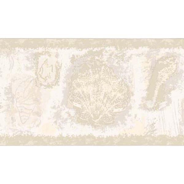 Neutral Seashell Wallpaper Border