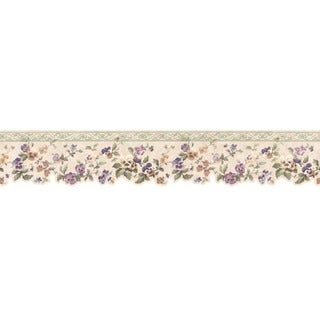Green Pansy Wallpaper Border