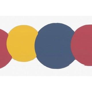 Red Circles Wallpaper Border