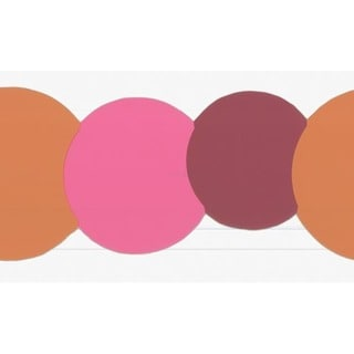 Orange Circles Wallpaper Border
