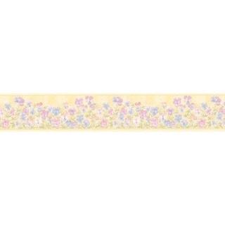 Pink Pansies Wallpaper Border
