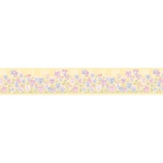 Pink Pansies Wallpaper Border