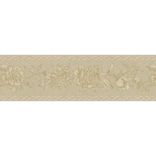 Champagne Floral Trail Wallpaper Border