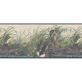 Blue Mallard Duck Wallpaper Border