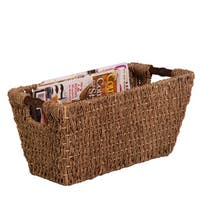 Honey-Can-Do Seagrass Basket w/ handles - Med