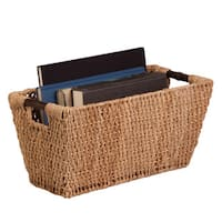 Honey-Can-Do Seagrass Basket w/ handles - Lg