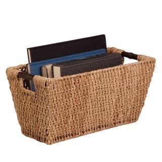 Honey-Can-Do Seagrass Basket w/ handles - Lg