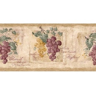 Purple Grapevine Wallpaper Border