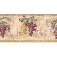 Purple Grapevine Wallpaper Border
