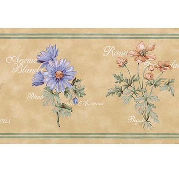 Lavender Flower Name Wallpaper Border