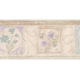 Neutral Vintage Floral Wallpaper Border