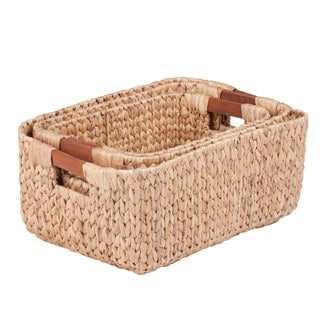 3pc sq natural baskets