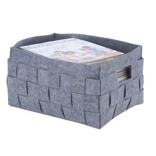 woven felt bin, S gray
