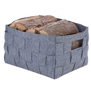 woven felt bin, XL gray