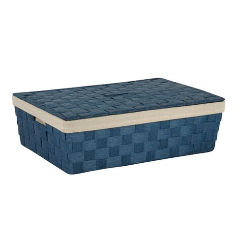 Honey-Can-Do Paper Rope Underbed Baskt, Blu