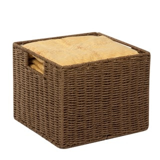 Parchment Cord Crate, Brn