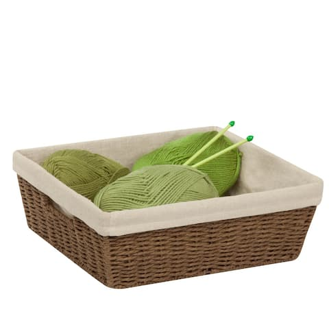 Honey-Can-Do Parchment Cord Basket w/liner