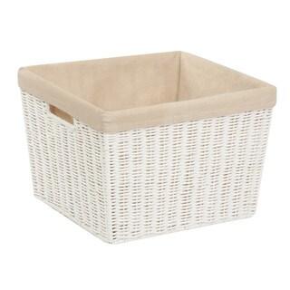 Parchment Cord Basket w/liner