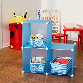 Honey-Can-Do Storage Cubes- set of 3- blue