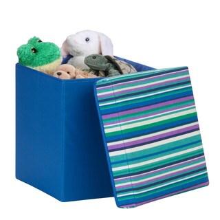 padded storage cube, blue