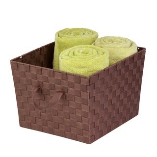 Woven Task-It Basket - Lg Brn