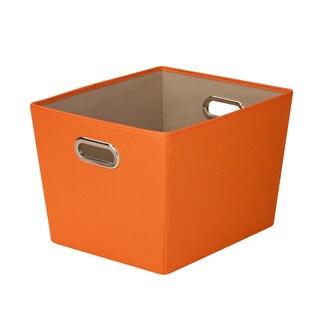 Honey-Can-Do Medium Storage Bin - Orange