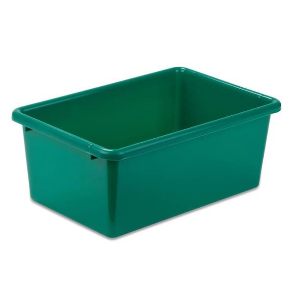 Honey-Can-Do Plastic Bin-Small Green