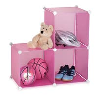 Honey-Can-Do Storage Cubes- set of 3- pink