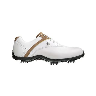 FootJoy 97173 White/ Taupe Women's LoPro Golf Shoes|https://ak1.ostkcdn.com/images/products/10520946/P17604424.jpg?impolicy=medium