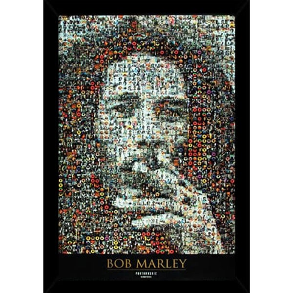 Shop Bob Marley Mosaic I (24-inch x 36-inch) with Contemporary ...