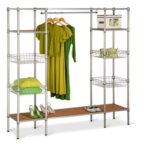 Honey Can Do Freestanding Open Wardrobe