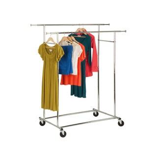 Honey-Can-Do GAR-01305 Dual Bar Adjustable Garment Rack