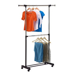 Honey-Can-Do GAR-01767 Adjustable 2-Rod Garment Rack